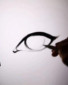 Eye Tutorial Steb by Step by AlicjaNai Brush sets: Sketchy Brush Set for sketch, Cartoon-ish Makeup Brush Set (get them Digital Art Tutorial, Digital Painting Tutorials, Art Tutorials, Concept Art Tutorial, Eye Drawing Tutorials, Pencil Art Drawings, Art Drawings Sketches, Drawings Of Faces, Drawing Techniques
