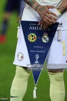 Detail of the match pennant prior to the FIFA Club World Cup Semi Final match between Club America and Real Madrid at International Stadium Yokohama on December 15, 2016 in Yokohama, Japan.