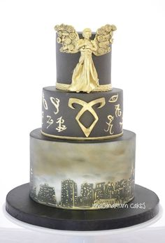Mortal Instruments and Infernal Devices Mashup Cake from Imaginarium Cakes.