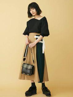 Batik Fashion, Skirt Fashion, Hijab Fashion, Fashion Outfits, Womens Fashion, Fashion Trends, Japanese Fashion, Korean Fashion, Fashion Details