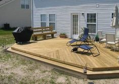 small deck ideas for mobile homes.Just because you have a tiny backyard doesn't suggest you can't have a stylish deck. Learn the building demands and also Deck With Pergola, Backyard Pergola, Pergola Ideas, Cheap Pergola, Pergola Plans, Pergola Kits, Deck Plans, Patio Roof, Patio Ideas