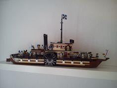 https://flic.kr/p/f2F1my | Lego Steamer Boot V5 | Dampfschiff