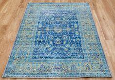 Heado Blue Rug - Aqua Silk Rugs - Classic Rugs Silk Rugs, Classic Rugs, Traditional Rugs, Oriental Rug, Aqua, Living Room, Home Decor, Traditional Area Rugs, Room Decor