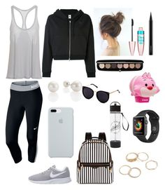 """Untitled #843"" by lalimalenagonzalezoficial on Polyvore featuring interior, interiors, interior design, home, home decor, interior decorating, NIKE, Henri Bendel, Marc Jacobs and Maybelline"