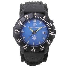 EMT Watch - Back Glow, Nylon Strap Detailed Product Description: EMT Watch, 3ATM, Japanese Movement, Date Display, Stainless Steel Caseback, Back Glow, Glowing Hands, Nylon Strap, 40mm Slide your hand