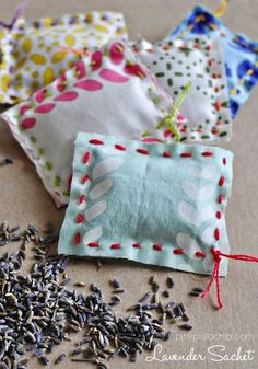 Pink Pistachio spring sachets kids can make