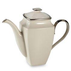 Lenox® Solitaire® Square 58-Ounce Coffeepot - BedBathandBeyond.com