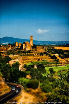 Italian landscape shot in Tuscania with ancient shurch on a hill- ©Silvia Ganora Photography - All Rights Reserved  #bookcovers #italy