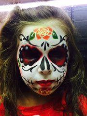 Sugar Skull with Sugar Love Face Painting stencils – SOBA - ShowOffs Body Art