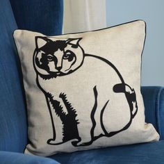 Faithful Companions Fat Cat Pillow Cover