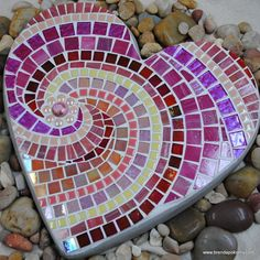 Sweet Sweet Heart Mosaic Stepping Stone. $90.00, via Etsy.