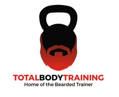Home of the Bearded Trainer. logo design by The Logo Boutique Marathon Logo, Personal Training Logo, Beard Logo, Logo Basketball, Body Training, Sports Logo, Total Body, Kettlebell, Trainers