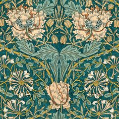 William Morris Honeysuckle Floral Business by DecorativeDesignWKS