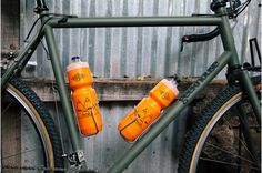 Poler Bottles on JP's Geekhouse Woodville Girls Mac, Bike Water Bottle, Unicycle, Perfect Match, Touring, Adventure, Orange, Cool Stuff, Cycling