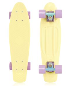 Pastel Yellow board! I need to switch the colors of the trucks and the deck.