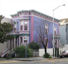 24th St Purple Victorian House - San Francisco, CA