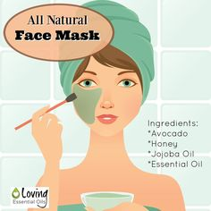 All Natural Face Mask For Smoother Skin with Avocado, Honey, Jojoba oil and Geranium Essential Oil