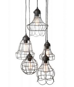 These pendant lights are so unique! Would be cute over kitchen island...