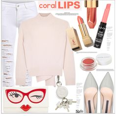 How To Wear Cool Coral Lips Outfit Idea 2017 - Fashion Trends Ready To Wear For Plus Size, Curvy Women Over 20, 30, 40, 50