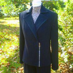 blazer refashioned with zipper... entered in refashioning contest
