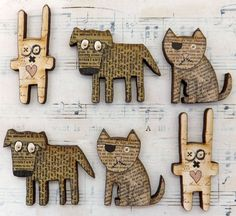 Handmade Animals Mix Wood Cuts. How fabulous are these?