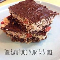 Carob Coconut and goji berry Slice | The Raw Food Mum is Sarah Nolan