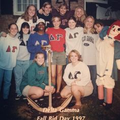 Bid Day 1997 at Albion College!