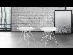 Krzesło białe - do jadalni - do kuchni - chromowane - MULBERRY