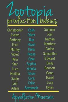 Zootopia production babies