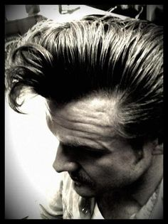 An amazingly cool quiff by the super tallented Rock n Roll MotherKutter Mr Ducktail from It's Something Hell's