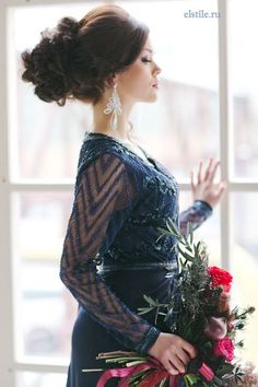 Long Wedding Hairstyles and Bridal Updo Hairstyles for Long Hair from elstile-spb 5