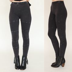 Our Charcoal Moto leggings are adorable and are SO on trend ❤️ They add so much edge to any outfit, we're in LOVE ✨✨