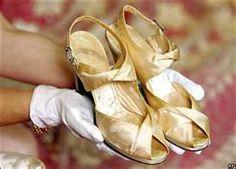 Queen Elizabeth's wedding shoes