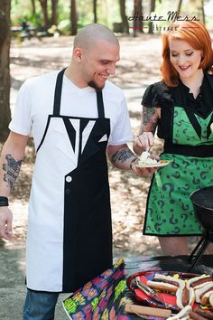 2-Face & Riddler Aprons, Haute Mess