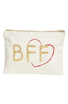 Levtex 'BFF' Zip Top Accessory Bag gift for Valentine's Day available @Nordstrom #bff #bestie #unique #gifts