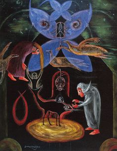 The Night of the 8th by Leonora Carrington, 1987