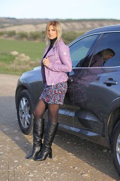 Nylons, In Pantyhose, Sexy Boots, Cool Boots, Winter Fashion Boots, Autumn Winter Fashion, Black Leather Boots, Leather Jacket, Crotch Boots