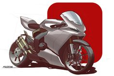 super sports bike sketch!
