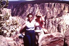 1987 Jo and Gloria Shoals above the Yellowstone Grand Canyon