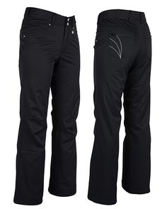 Women's ski and snowboard pant. Think of your favorite pair of jeans… x10. The Barbara is our mid rise, jean style, insulated pant with an internal adjustable waist. These will keep your legs looking good and feeling warm in the snow. WATERPROOF- 20,000mm. BREATHABLE- 15,000g.