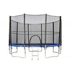 Trampolina ogrodowa z siatką ATHLETIC24 - do skakania dla dzieci i dla dorosłych. #trampolina Leo, Lion