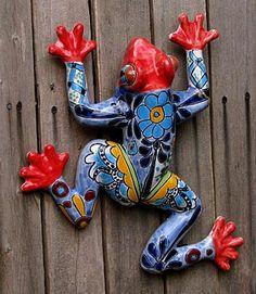 frog fence art