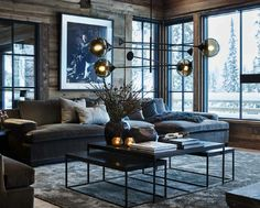 Décoration contemporaine dans un chalet norvégien - PLANETE DECO a homes world Elegant Home Decor, Contemporary Home Decor, Elegant Homes, Modern Decor, Modern Rustic, Modern Interior Design, Interior Design Living Room, Living Room Designs, Living Room And Bedroom In One