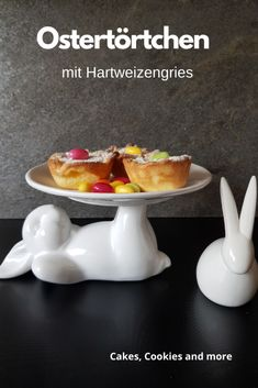 Ostertörtchen mit Hartweizengriess - Cakes, Cookies and International Recipes, Creative Food, Diy Food, Easy Peasy, Muffins, Good Food, Pudding, Favorite Recipes, Sweets