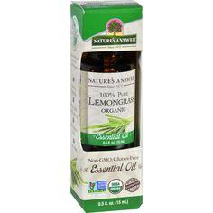 Natures Answer Essential Oil - Organic - Lemongrass - .5 Oz
