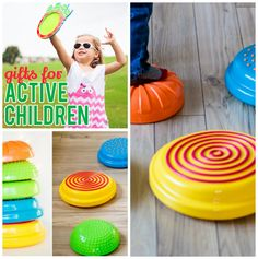 """DailyMom's Gifts for Active Children Guide recommends our: Sensory Stonez & Stepperz: """"Are you in search of a gift for a child who loves hopping, skipping, jumping and obstacle courses? Sensory Stonez & Stepperz are a fantastic gift for children who are on the move! These colorful """"stones"""" are so much more than just a fun toy…."""""""