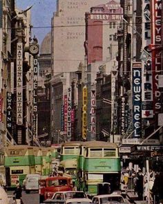 George St, Sydney, c1965 #sydney #history #australia (if anybody has a time machine, email me. I'm in). http://fat.ly/gehN (Instagram Image from @beliefmedia, 2nd February 2017 9:11pm).