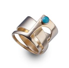 A personal favorite from my Etsy shop https://www.etsy.com/listing/198389688/turquoise-ring-turquoise-ring-14k-gold
