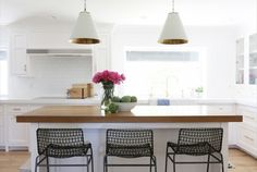 Before and After: A Drab Kitchen Becomes Light and Bright via @mydomaine