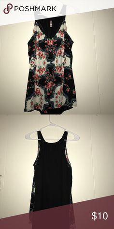 Floral tank/blouse Used with no rips stains or fading. All reasonable offers are accepted just please don't low ball me most of these items I can still use but need the money for medical bills. Xhilaration Tops Tank Tops